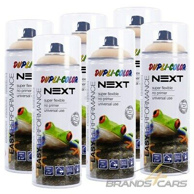 6x 400ml DUPLI COLOR NEXT PARIS BEIGE MATT SPRÜH DECK LACK FARBE SPRAY