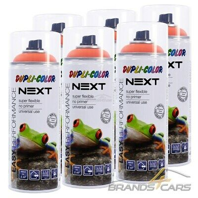 6x 400ml DUPLI COLOR NEXT BUDAPEST ORANGE MATT SPRÜH DECK LACK FARBE SPRAY
