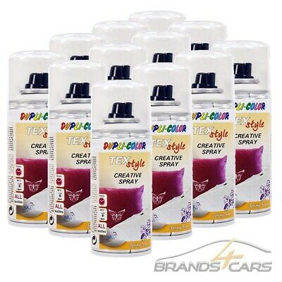 12x 150ml DUPLI COLOR TEXTILSPRAY TEXTILFARBE STOFFMALFARBE WEISS 319921