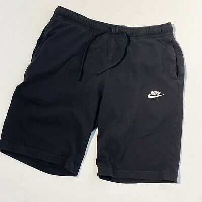 Vintage Nike Cotton Shorts Size Large Pockets Black