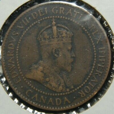 1905 Canada 1c -  Edward VII Bronze One Cent Coin -  KM# 8 - #837