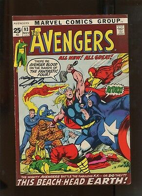 Avengers #93 (7.0) Classic Neal Adams Signed