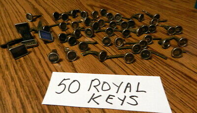 50 Royal TYPE WRITER KEYS LETTERS ART CRAFT JEWELRY STEAMPUNK Vintage