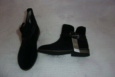 Next leather suede  black boots - size 11 - bnwt