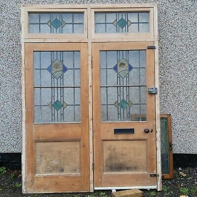 Stained glass Door, Frame And Panels Reclaim