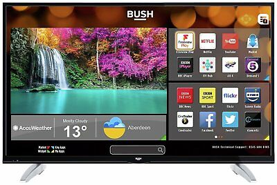 Bush 49 Inch 4K Ultra HD HDR Freeview Play Smart WiFi LED TV - Black