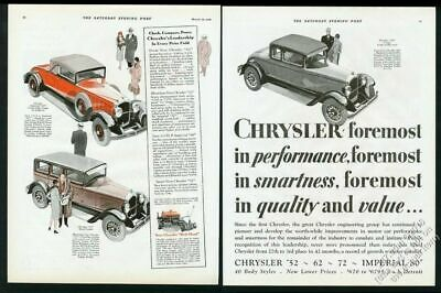 1928 Chrysler Imperial 80 convertible coupe red car 72 62 cars vintage print ad
