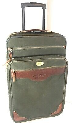 "Battenkill Orvis Carry-on Canvas leather 22""Suitcase Wheeled Luggage"