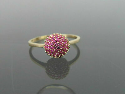 Vintage Estate 1930'S 2.30 CT Natural Ruby Wedding Ring In 14k Yellow Gold Over