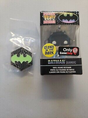 Funko Pocket Pop DC Batman 80 Years BatmanGITD Glow Gamestop Exclusive with pin.