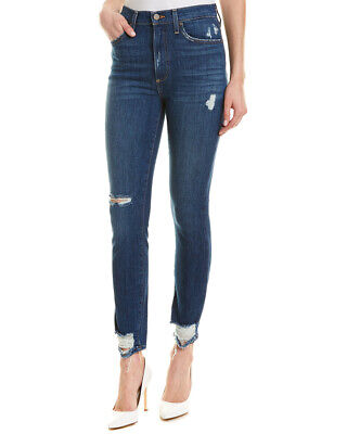 Alice + Olivia Good High-Rise Ankle Cut Skinny Leg Women's Blue 24