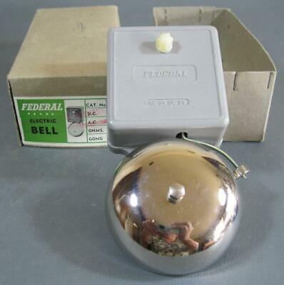 Vintage Federal electric bell MIB 240 volt NOS
