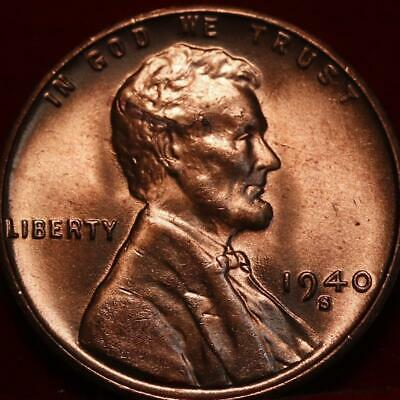 Unbelievable Red *1940 S* RD Red Uncirculated Lincoln Wheat Cent Super Nice