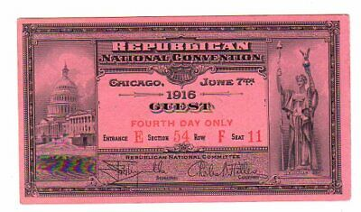 1916 Republican National Convention Ticket
