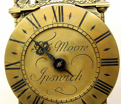 Antique Clocks Brass Hook And Spike Lantern Clock By Thomas Moore Ipswich