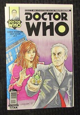 2014 DOCTOR WHO #1 Sketch Cover w/ DPS Marker by RIckman NM- 9.2