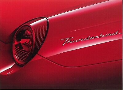 Mint! 2002 Ford Thunderbird Intro Poster Brochure