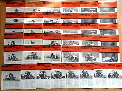 Group 38 nice vintage Case tractor brochures Very Good uncirculated *