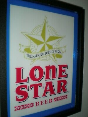 Lone Star Texas Beer Bar Tavern Man Cave Lighted Advertising Sign #2