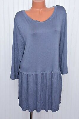 Zenana Premium Womens Stretch 3/4 Sleeve Peasant Drape Shift Dress Sz 3X NWTS