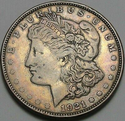 1921-D $1 Morgan Silver Dollar, Toned, 90% Silver, #3561