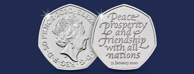 Uncirculated UK Brexit 50p Fifty Pence Coin 2020