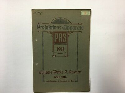 Historischer C. Reichert Katalog Projektions Apparate 1911 projection microscope