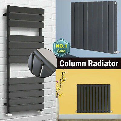 Horizontal Vertical Oval Column Designer Radiator Central Heating Rad Anthracite