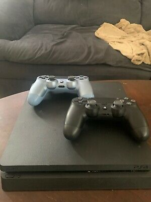 Playstation 4 1TB Slim - Black + 2 Controllers + Every New Game