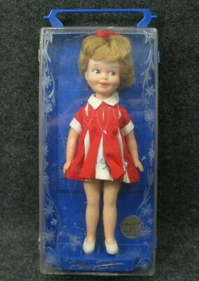 1963 Penny Brite Doll In Original Plastic Case by Deluxe Reading Corp. Vintage