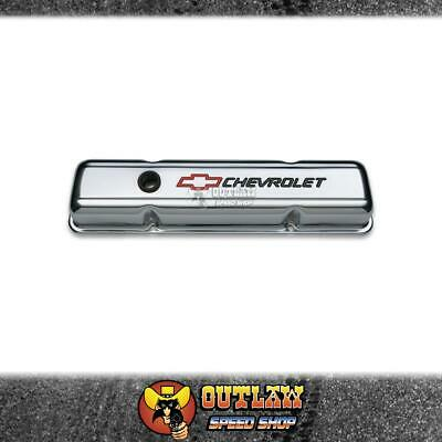 Proform Stamped Steel Valve Covers Fits Chevy Sb Bowtie Emb Chrome Pair