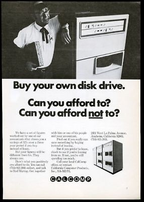 1973 Calcomp computer photo vintage print ad