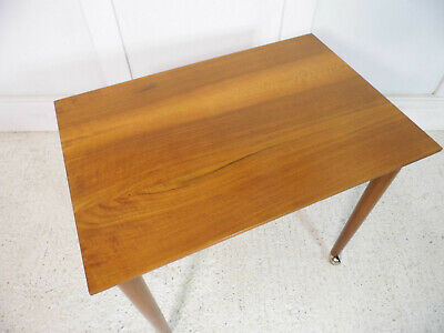 Vintage Retro Mid Century COFFEE TABLE Wooden TEAK Table PlantStand Danish 60s