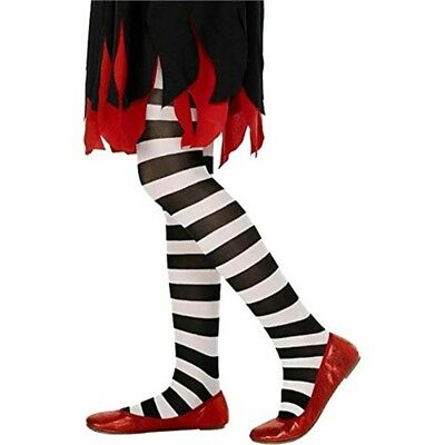 Tights Black And White Striped, Age - Striped Girls Dress Fancy Years 612
