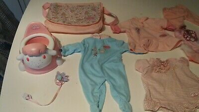 Baby annabell  ACCESSORIES BUNDLE. , Potty+ dummy carry bag and outfits