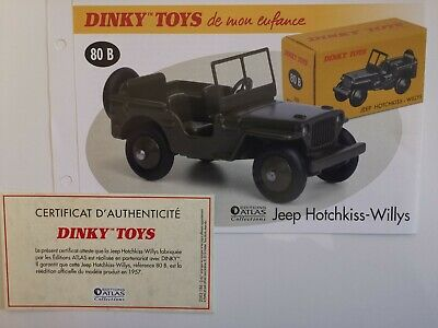 Bt repro ref N9 BOITE POLITOYS jeep hotchkiss militaire n108