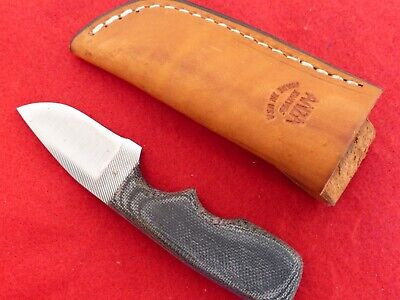 """blade made from a file which has been annealed, ANZA 6 1//4/"""" FIXED BLADE KNIFE"""