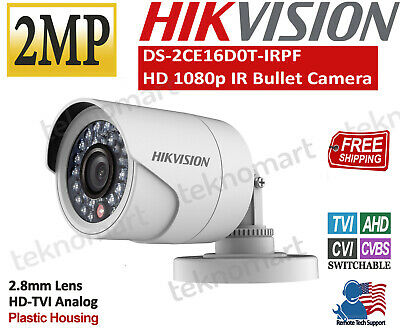 Hikvision 2MP Dome Camera DS-2CE56D0T-IRMF 1080P HD Analog IR 2.8mm 2pcs//Pack