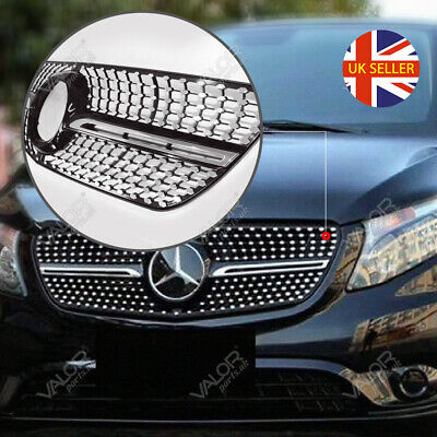Mercedes V-Class W447 2015+ Diamond Front Grille (without camera hole)