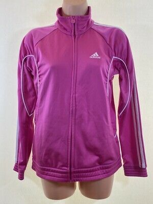 ADIDAS pink zip jacket size 13 - years also fits ladies UK 8