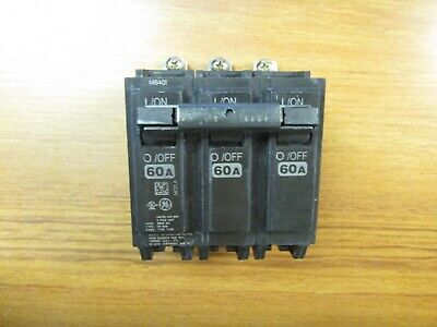 New Panel Pull Ge Circuit Breaker 3P, 60A, Cat# Thqb32060 (Chip)... Vs-821