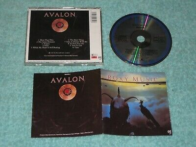 Roxy Music Avalon early CD (EG/Polydor, 800 032-2) West Germany blue rings label