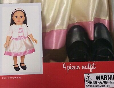 Penelope And Friends 4 Piece Outfit Dress, Shoes, Shrug—Fits Most 18 Inch Dolls