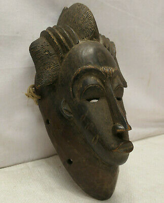 Vintage Mask Wooden Japanese Tribal Hand Made Display Wall hanging #257