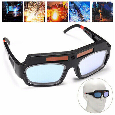 AG_ PC Lens Solar Powered Auto Darken Protector Welding Glasses Eye Safety New
