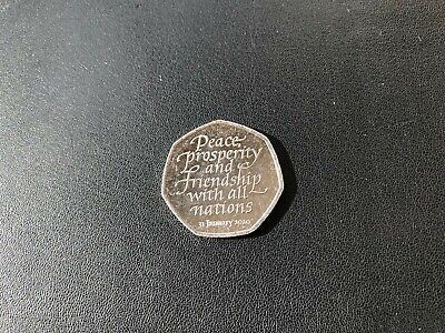 Brexit 2020 50p Coin Very Good Circulated Condition FREE POST