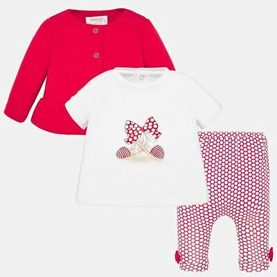 MAYORAL BABY GIRLS SET 3-teilig JACKE/LEGGINGS/T-SHIRT 1785 NEU Gr. 86 / 18 mon