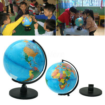 Dia 25cm Rotating Earth World Globe W/Stand Geography Educational Children Gifts