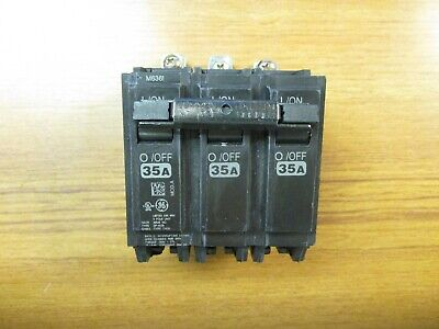 New Panel Pull Ge Circuit Breaker 3P, 35A, Cat# Thqb32035  (Chip)...  Vs-823