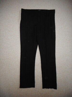 Womens Pants-NOT YOUR DAUGHTERS JEANS-NYDJ-black rayon stretch Ponte skinny-14